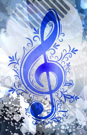 melodist: Musical decor  Stock Photo