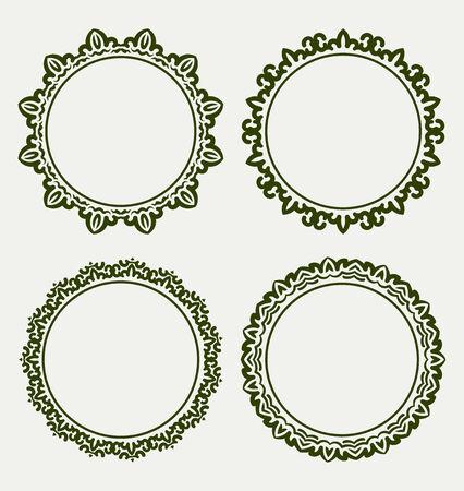 circle frame: Set of round frames