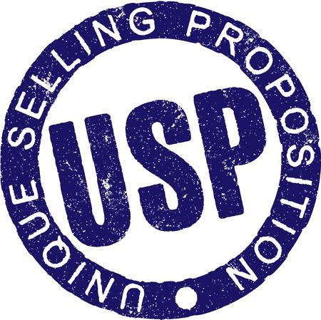 USP のゴム印