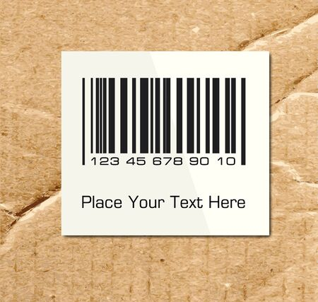 up code: Barcode on a cardboard surface