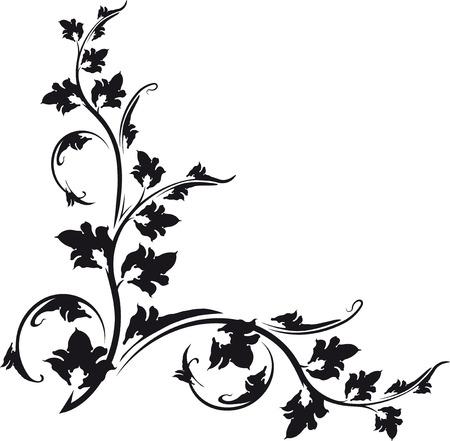 esquineros de flores: Esquina decorativa. Foto de archivo