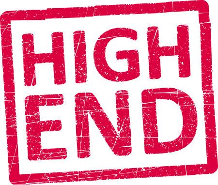 high end: De gama alta sello de goma