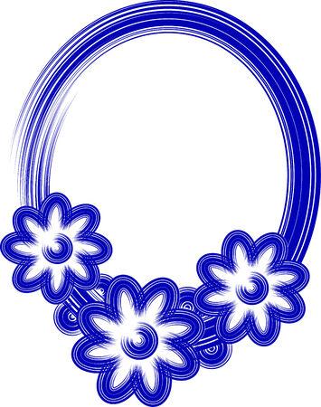 oval frame: Blue oval frame Stock Photo