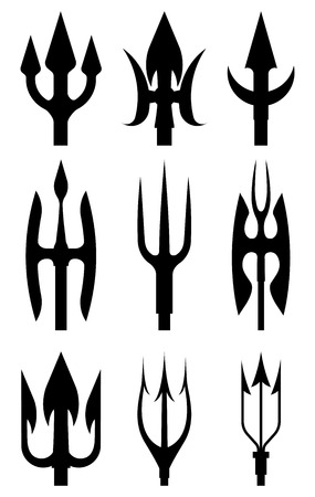 Set of spears and tridents
