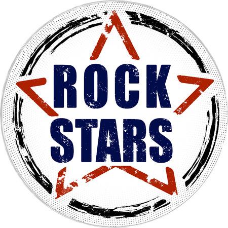 Rock stars grunge design. Standard-Bild