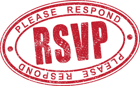 RSVP rubber stamp. Stock Photo