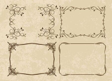 etiqueta: Set of four decorative frames