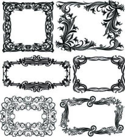 massive: Set of 6 massive vector frames