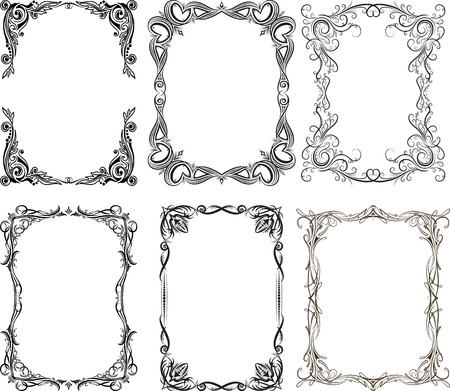 8 067 Gothic Borders Cliparts Stock Vector And Royalty Free