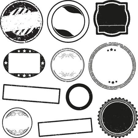 sello: Gran conjunto de plantillas para sellos de goma