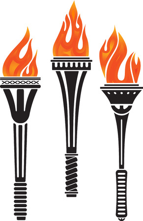 torches: Set of vector torches