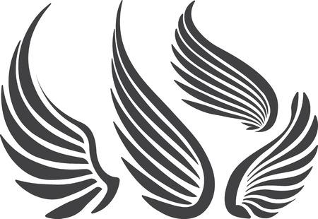 paloma caricatura: Conjunto de 4 alas.