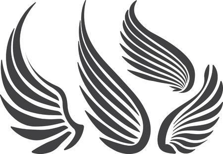 eagle wings: Set of 4 wings. Stock Photo