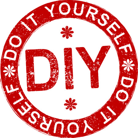 DIY (Do it yourself) rubber stamp.