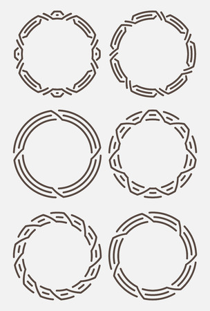 is interesting: Set of six interesting round frames.