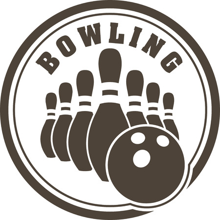bowling strike: Abstract bowling design Stock Photo