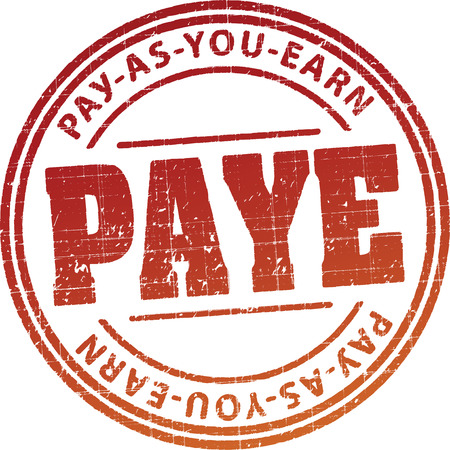 PAYE (Pay as you earn) rubber stamp Stock Photo