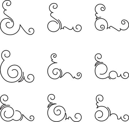floral corner: Set of 9 decorative corners.