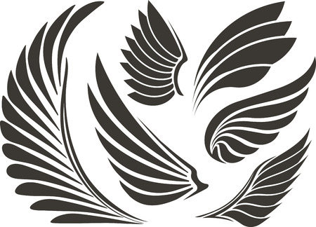 engel tattoo: Set von f�nf Fl�geln