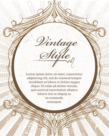 etiqueta: Rich decorated vintage style abstract background.