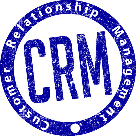 relationship management: CRM (Customer Relationship Management) rubber stamp