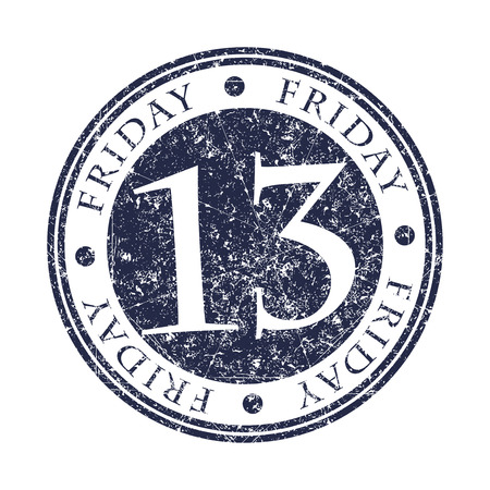 13: Friday 13 rubber stamp.