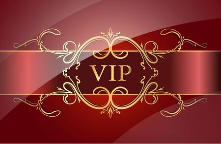 vip design: VIP design. Vector illustration.