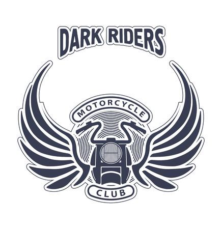 ダーク ライダー オートバイ クラブのエンブレムやロゴのデザイン