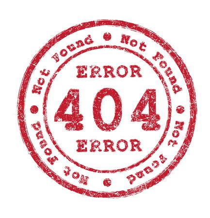 Error 404 Not found rubber stamp photo