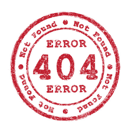 found: Error 404 Not found rubber stamp Stock Photo