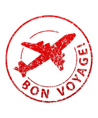stamp: Bon voyage sello de goma