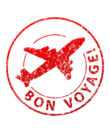 Bon voyage rubber stamp Stockfoto