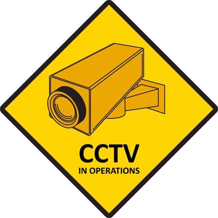 CCTV video surveillance sign. photo