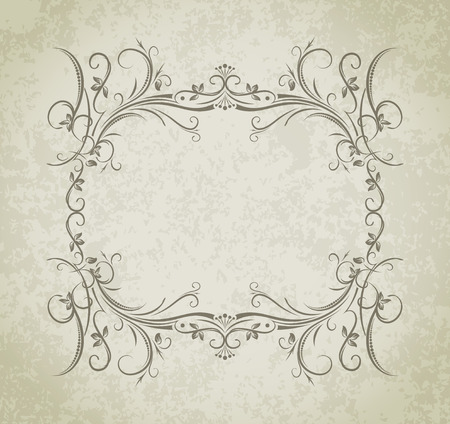 wine  shabby: Vintage vector frame on grunge style background.