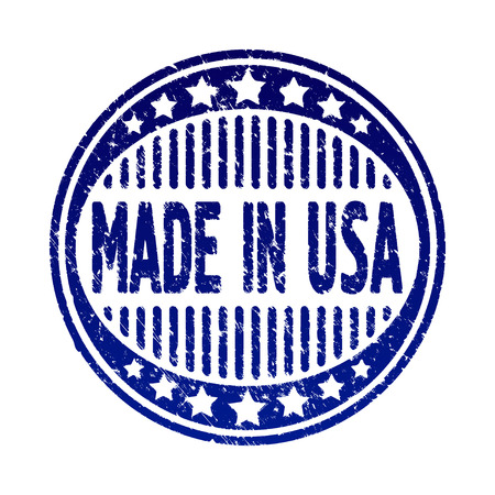 made manufacture manufactured: Made in USA stylish grunge rubber stamp.