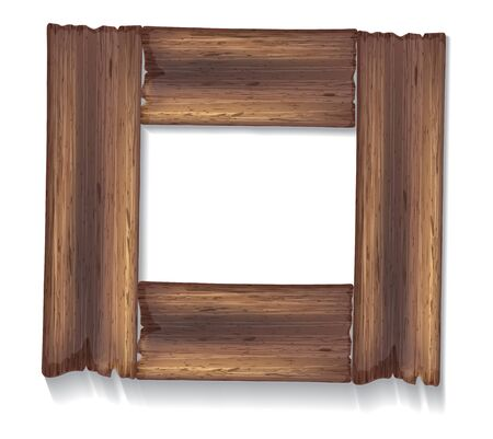 plywood: Old wooden frame with empty space for your text.