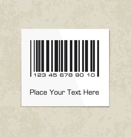 packing paper: Bar code label on a packing paper.