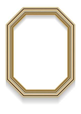 octogonal: Foto ilustración realista de una trama octogonal con sombra para las fotos, u otros diseños. Vectores