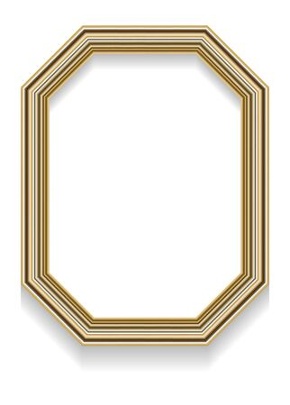 octagonal: Photo realistic illustration of an octagonal frame with shadow for photos or other designs.