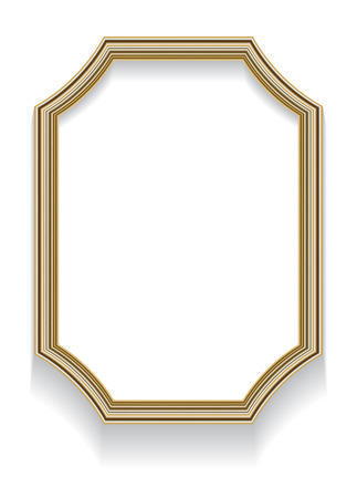 octagonal: Photo realistic illustration of an octagonal frame with curved elements and shadow for photos or other designs.
