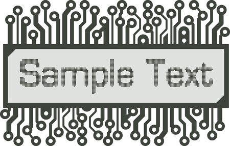 pcb: Abstract design in the style of the PCB or LCD-indicator with space for text
