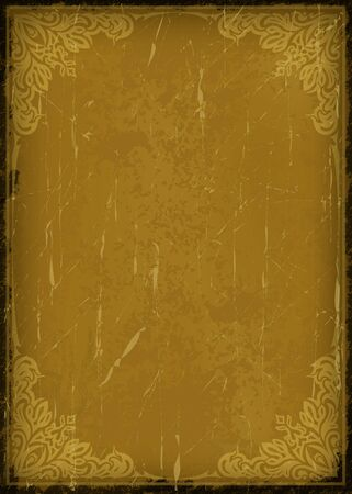 Vintage background in grunge style with very cracked old frame.