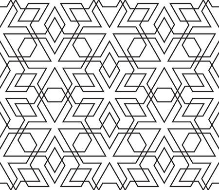 vintage ornament: Seamless Vintage Black and White Geometric Pattern. Tile Texture, Ethnic Ornament.