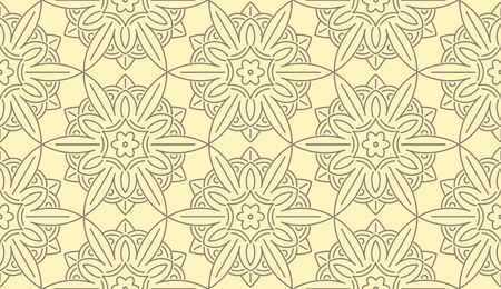 swatch book: Seamless Monochrome Floral Pattern (Vector). Hand Drawn Floral Texture, Decorative Flowers.