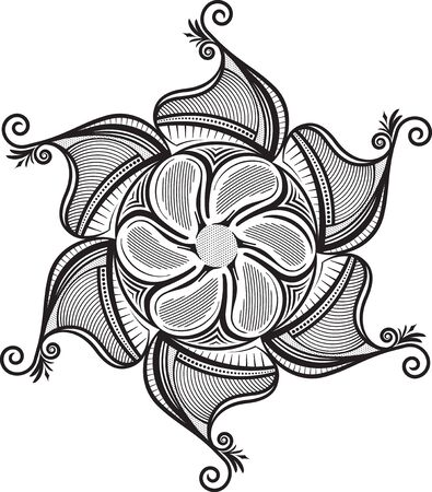 sacramental: Abstract vector lace design - mandala Illustration