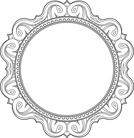 judaic: Unusual, hexagonal, lace frame, decorative element with empty place for your text. Vector illustration.