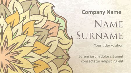 oldstyle: Visit card design on old-style colored background with gentle and pleasant colors.