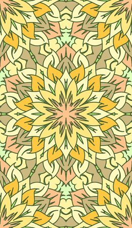vitrage: Seamless abstract tribal pattern. Hand drawn ethnic texture, vector illustration in bright colors. Illustration