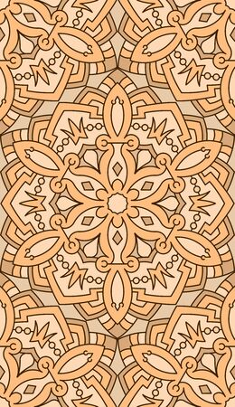 vitrage: Seamless abstract tribal pattern. Hand drawn ethnic texture, vector illustration in bright tones.