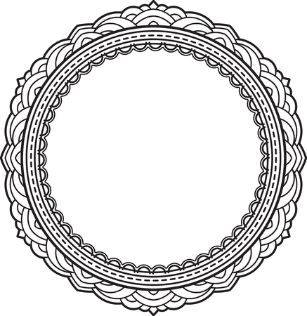 round: Elegant round frame Illustration